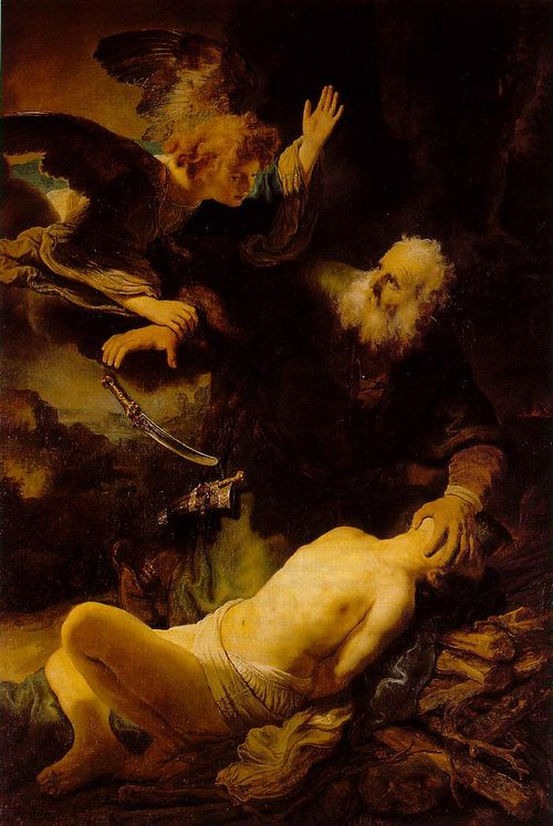 Rembrandt abraham and issac 1634