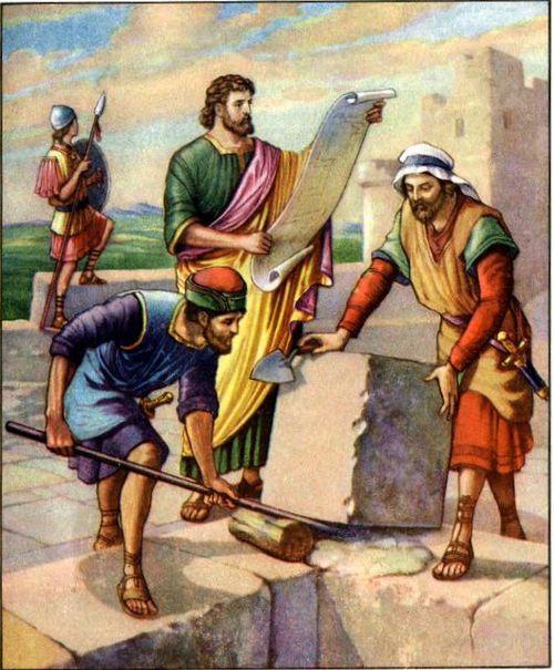 Nehemiah-building-the-wall