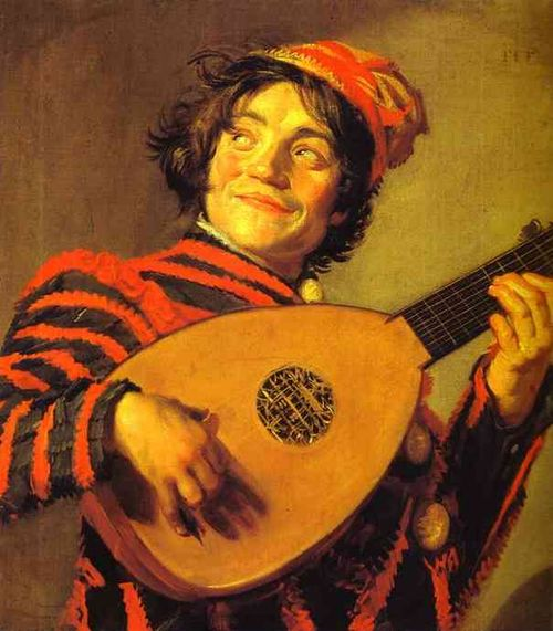 Jester with a Lute Frans Hals