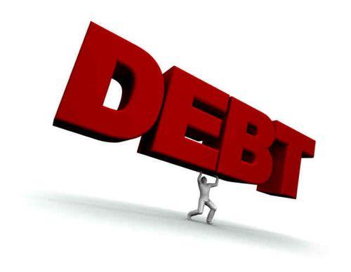 Big debt red